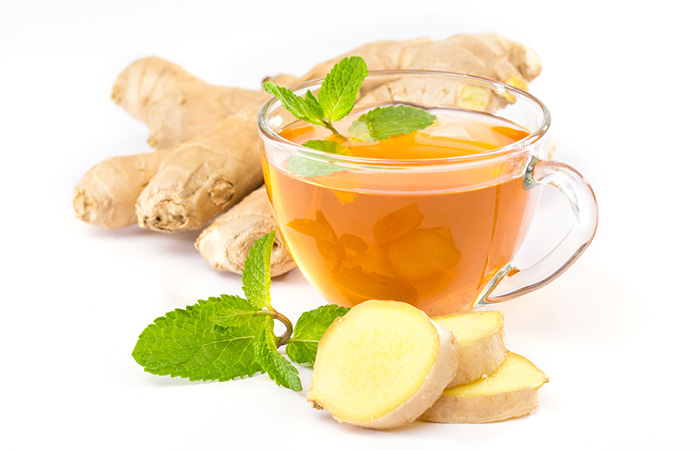 mint ginger tea